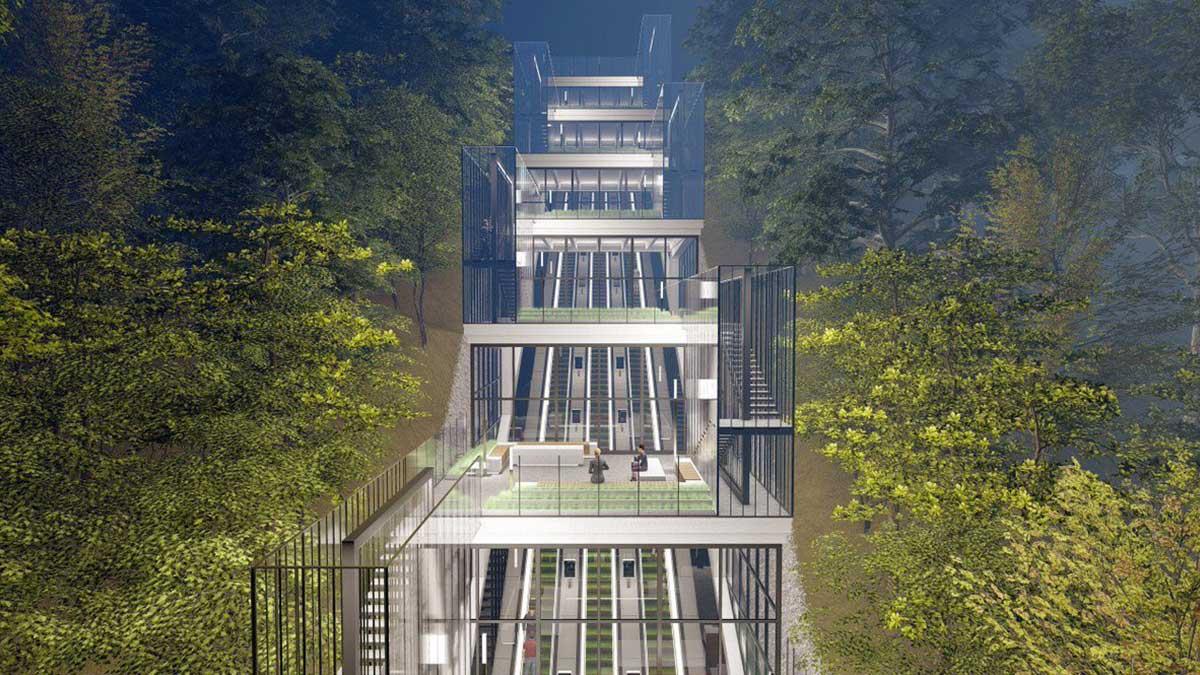 Открытие эскалаторной галереи на Воробьевых горах запланировано на 2022 год