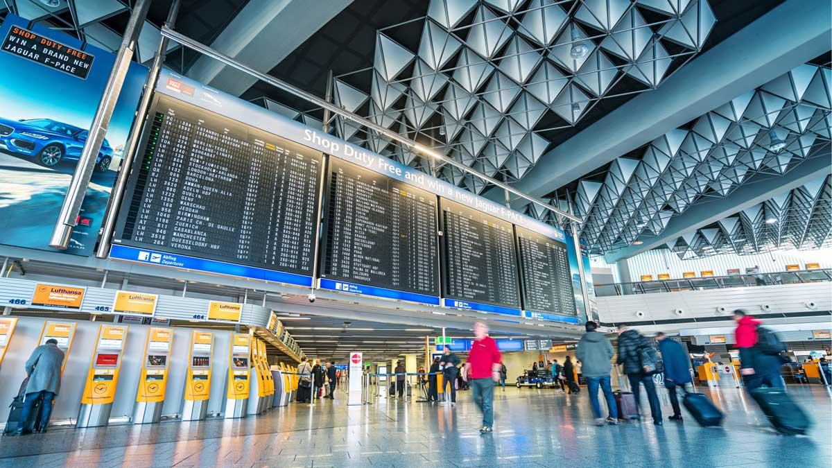 аэропорт Франкфурт табло