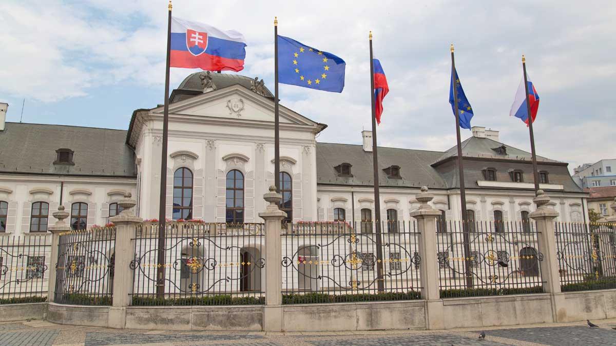 здание парламента в Братиславе, Словакия