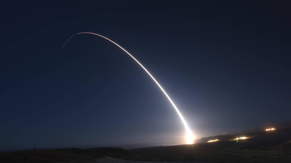 Запуск ракеты Minuteman III Минитмен