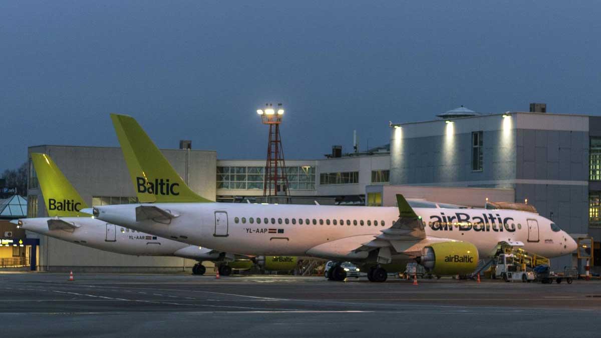 Самолеты авиакомпании airBaltic