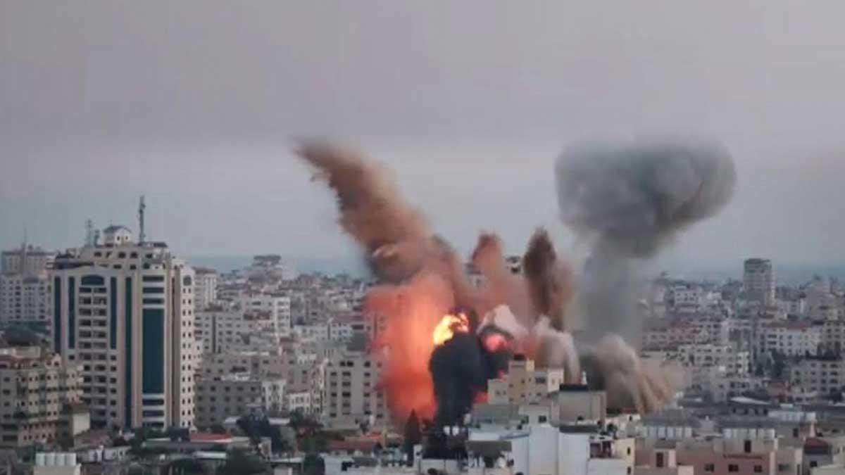 Сектор Газа обстрел взрыв