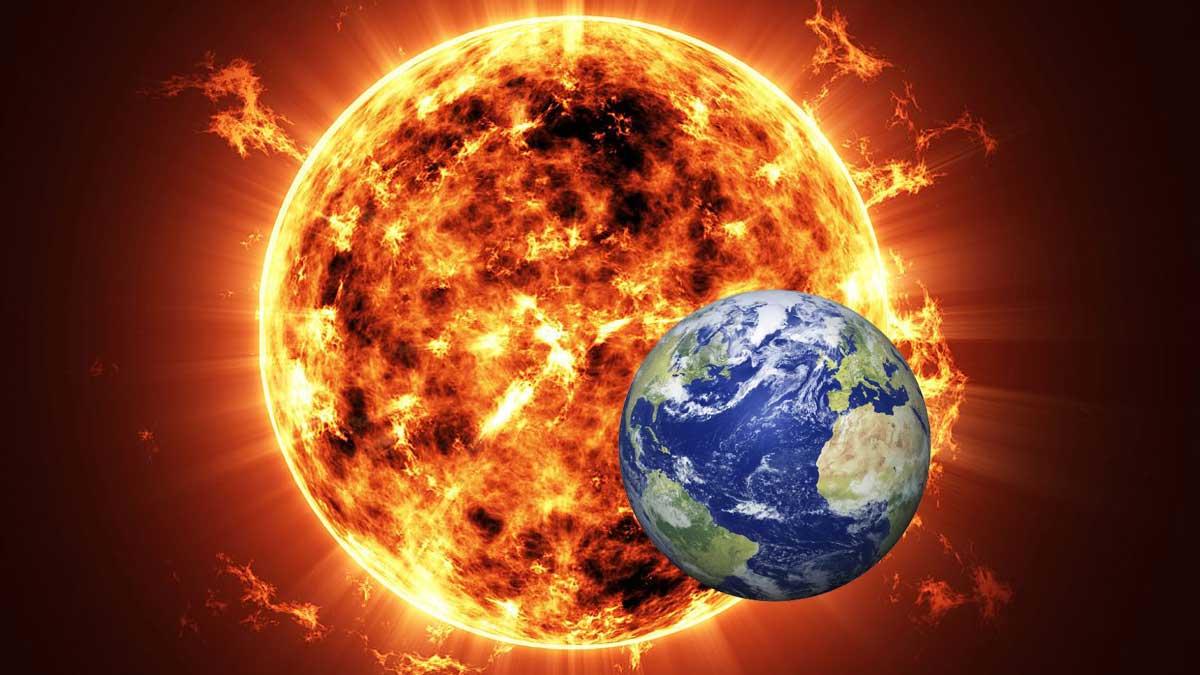 Солнце Земля солнечная буря