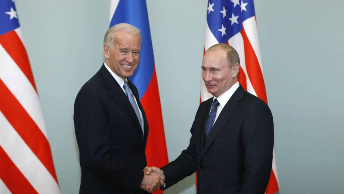 Джозеф Байден и Владимир Путин