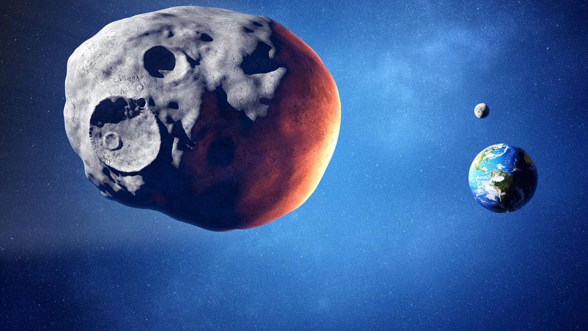 астероид метеорит приближается к земле космос