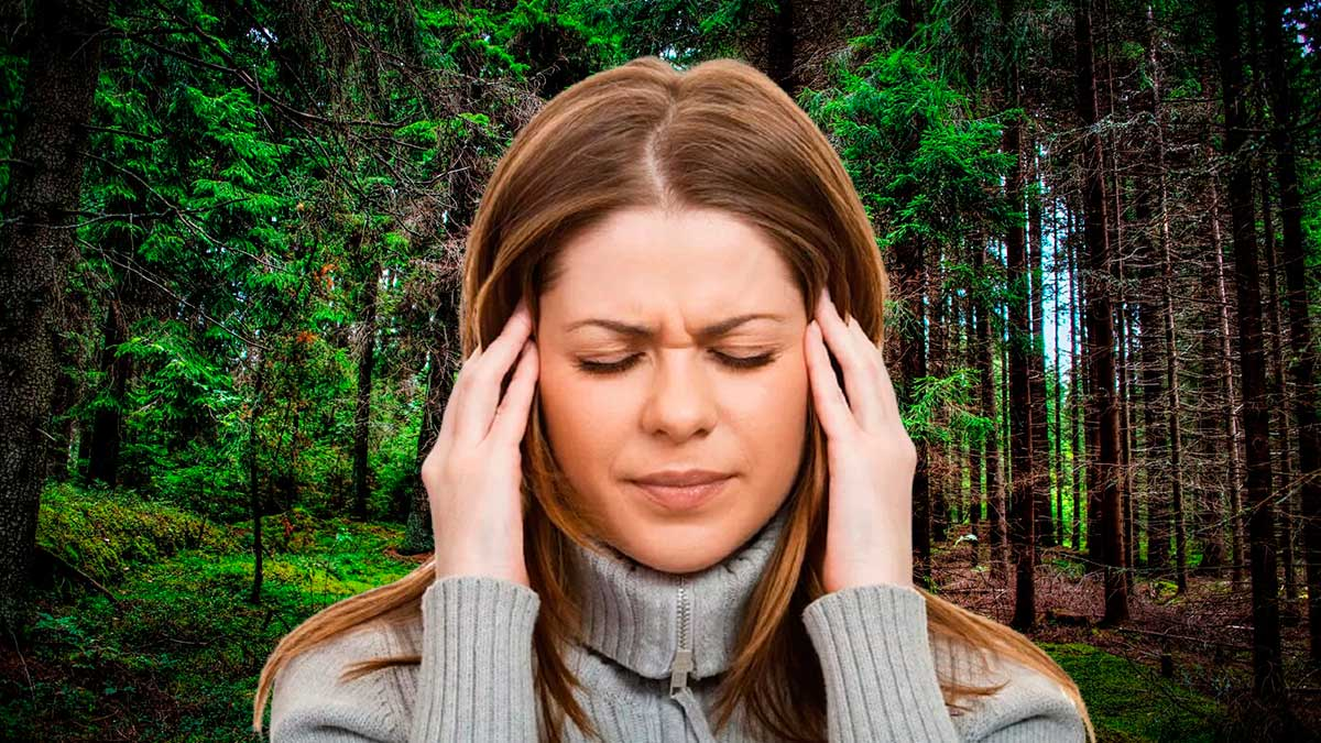 девушка в парке болит голова один