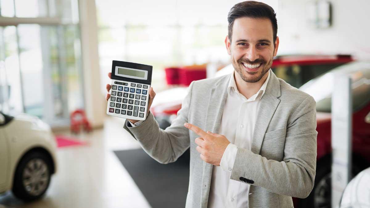 мужчина калькулятор автосалон