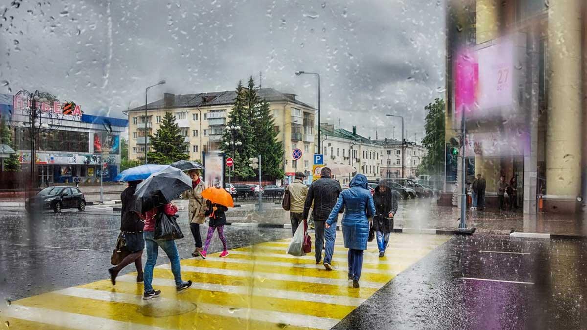 дождь, ветер, зонты Москва
