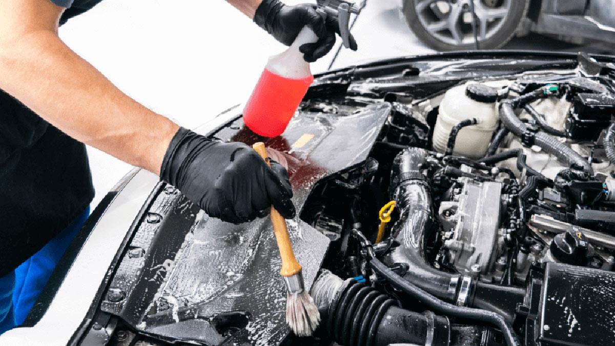 чистка мойка двигателя