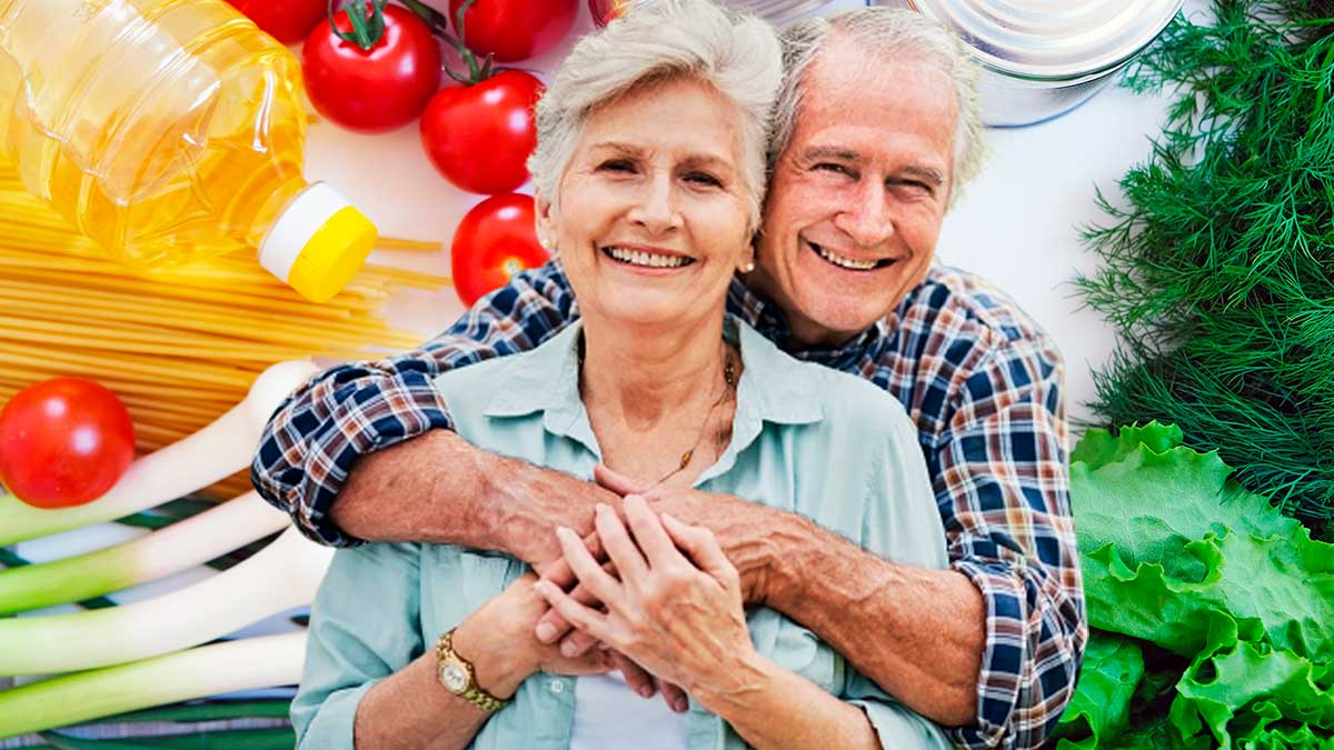 пожилые люди зелень оливковое масло