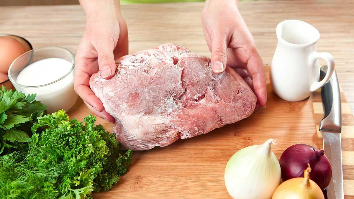 замороженное мясо готовка