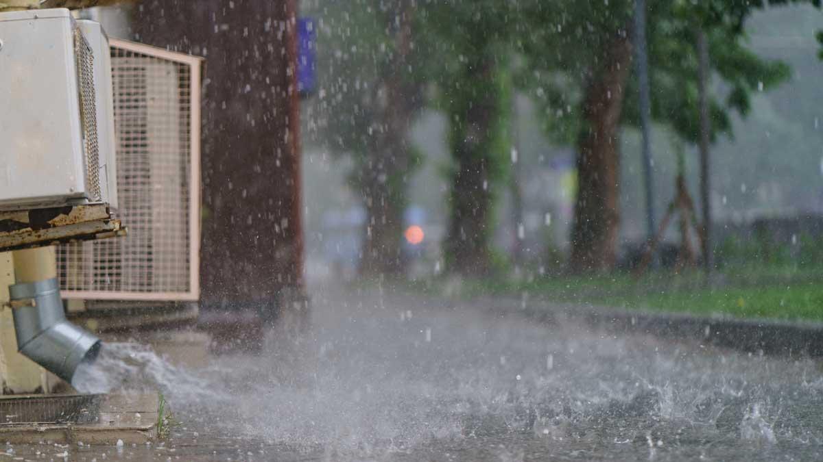 город лужи дождь ливень