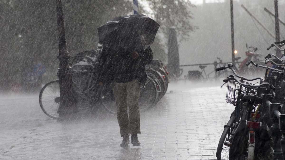 сильный дождь, гроза и ветер в Москве