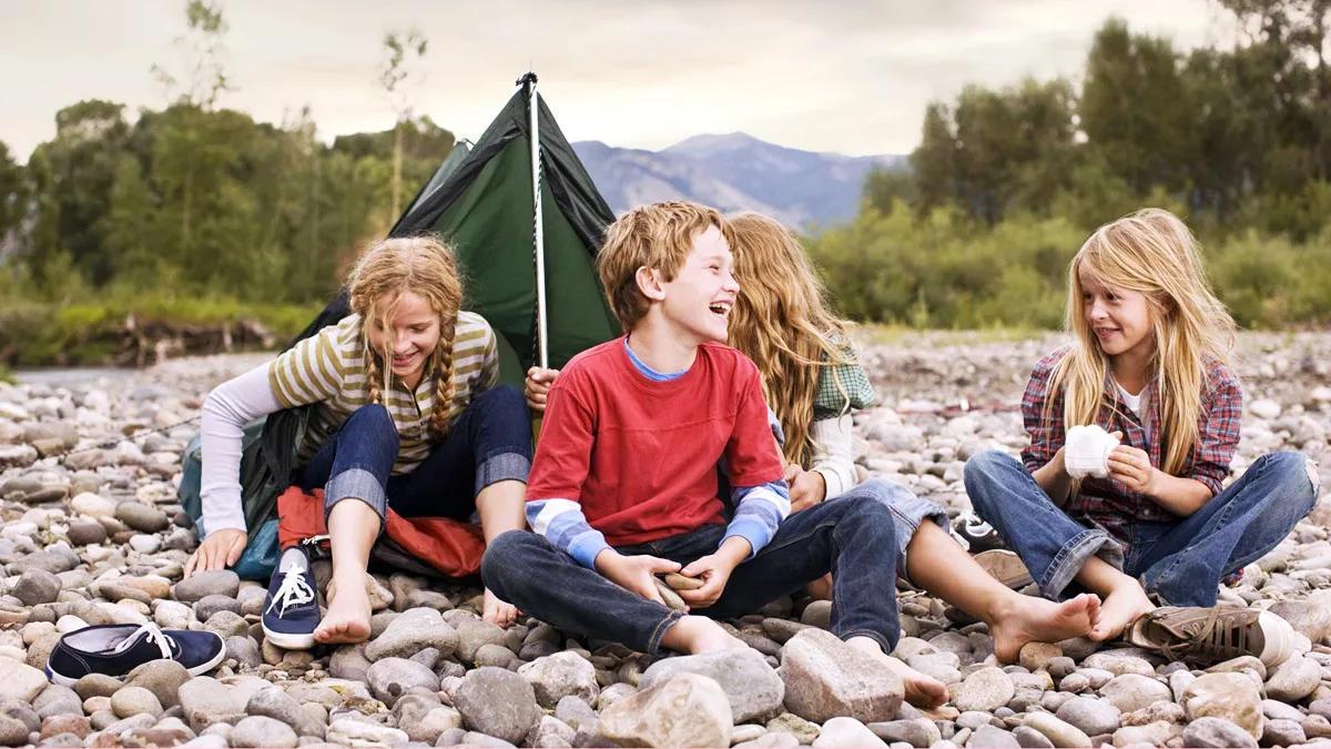 детский отдых на природе