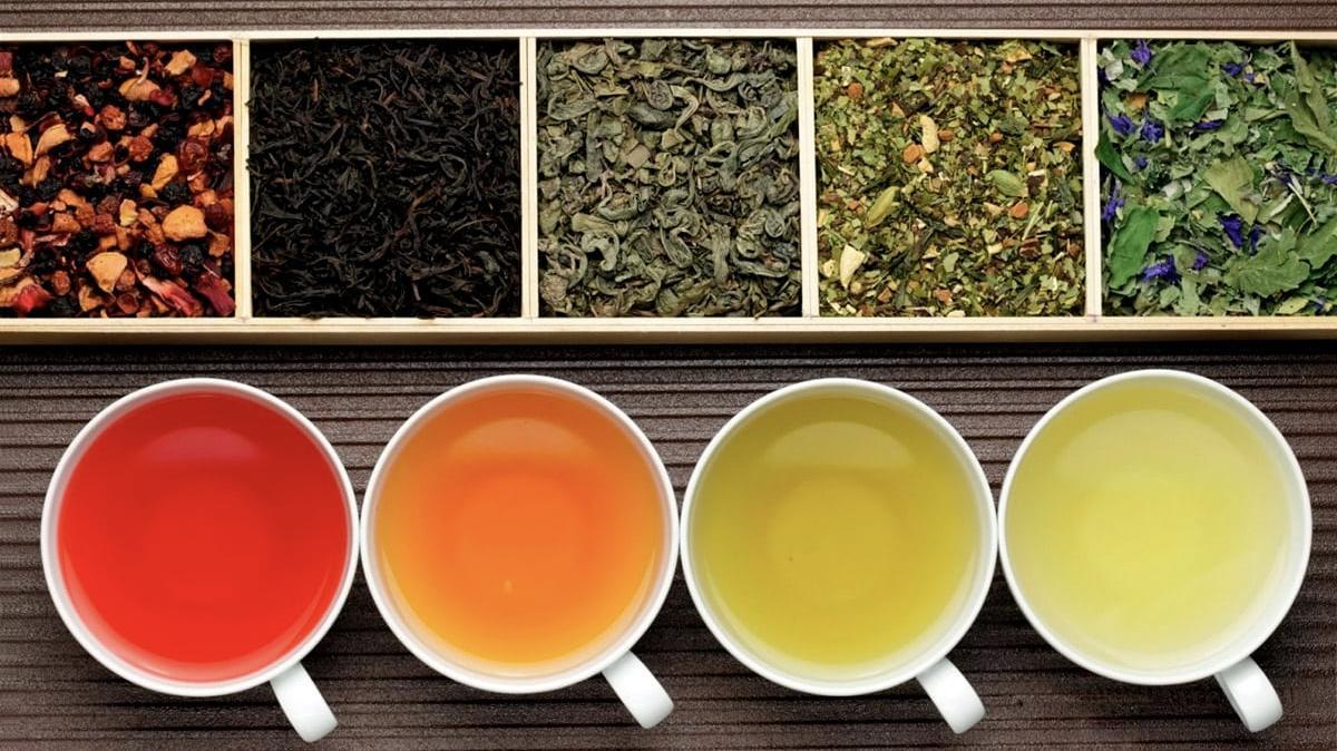 белый красный зеленый травяной чай