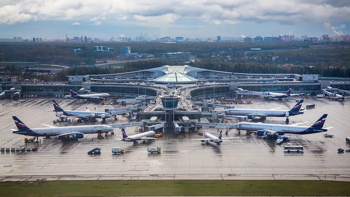 Аэропорт Шереметьево терминал Д вид сверху
