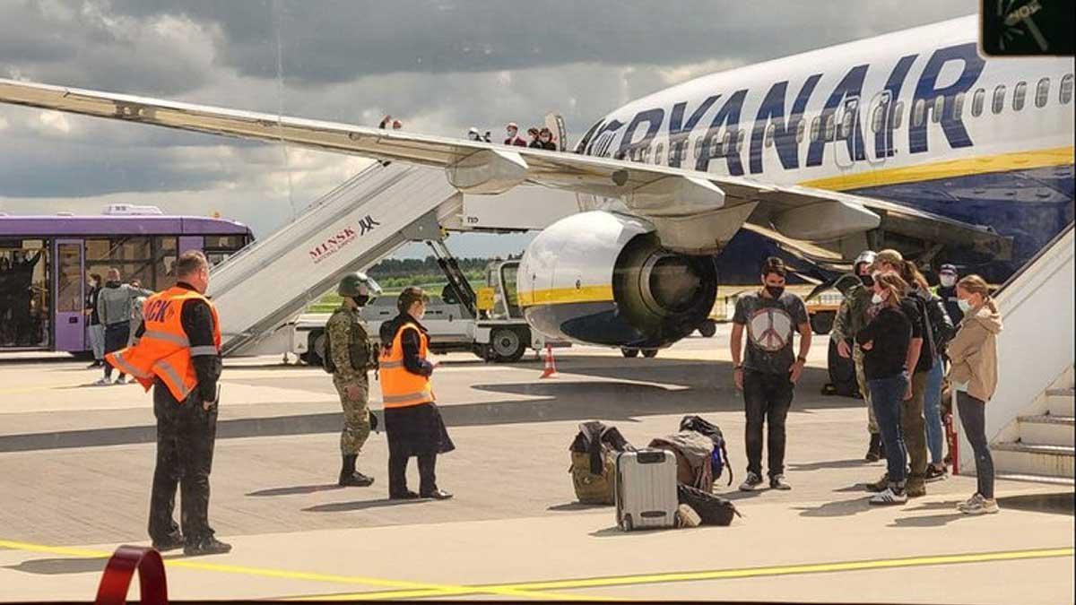 инцидент с бортом Ryanair