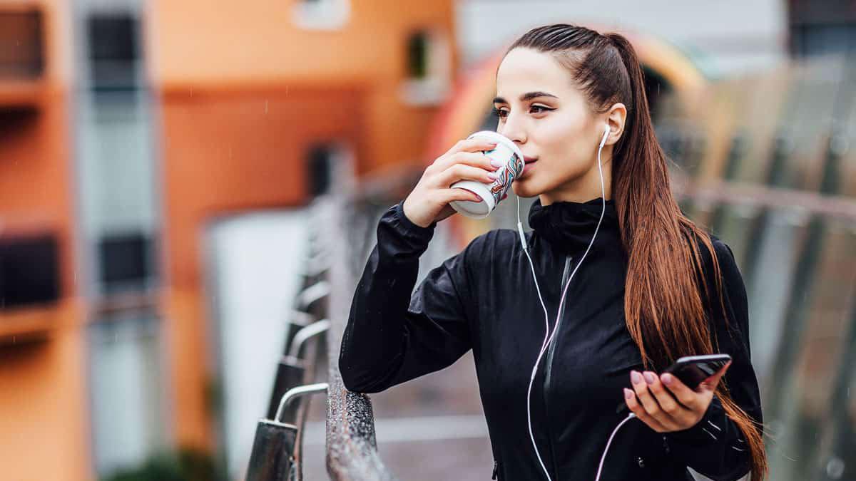 кофе девушка спорт