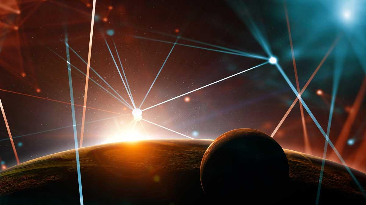 лазер лучи планета