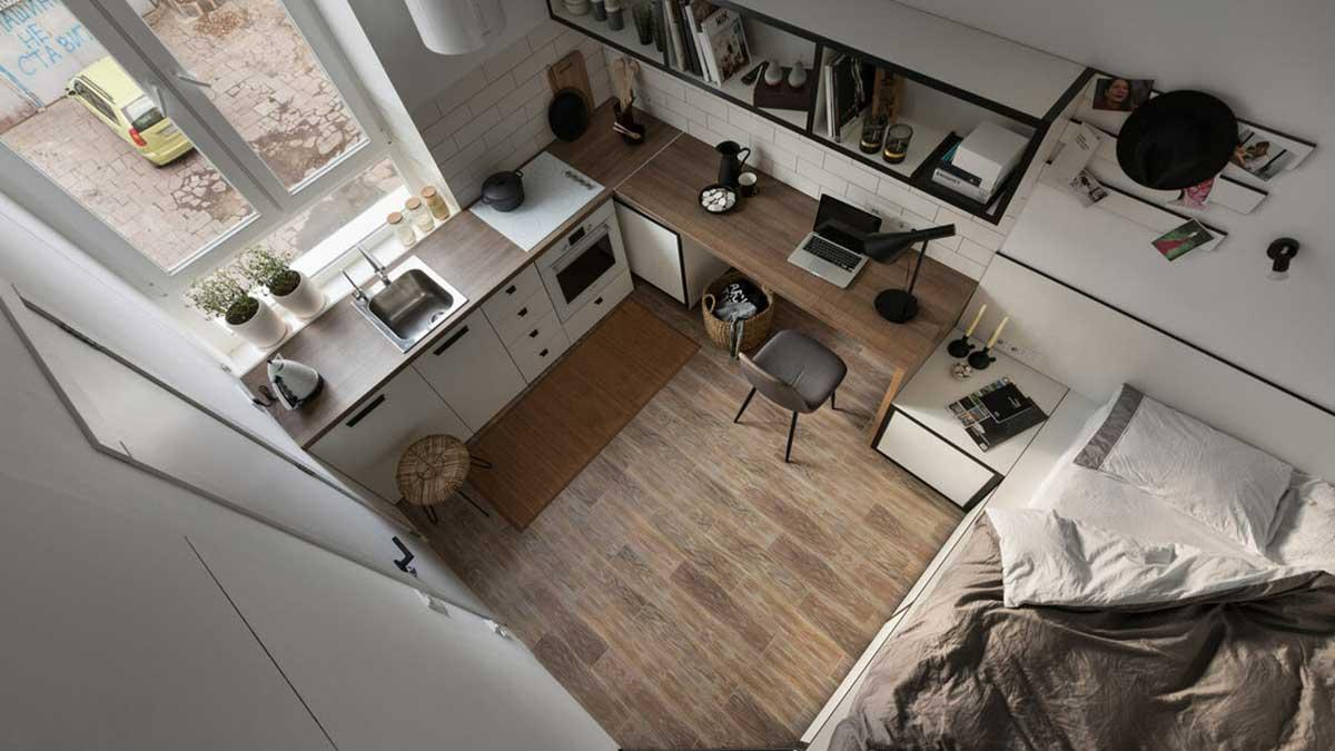 миниатюрная квартира Москвы