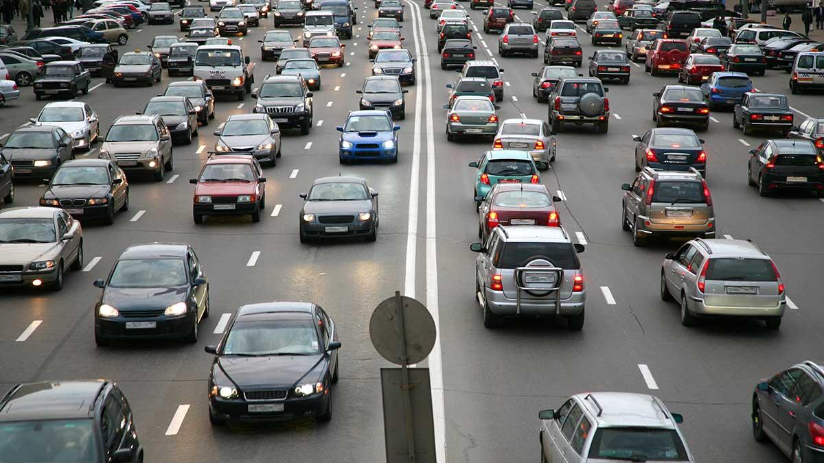 Москва дорога машины