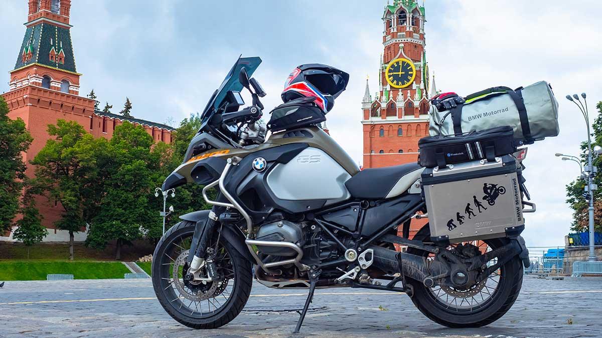 мотоцикл на Красной Площади