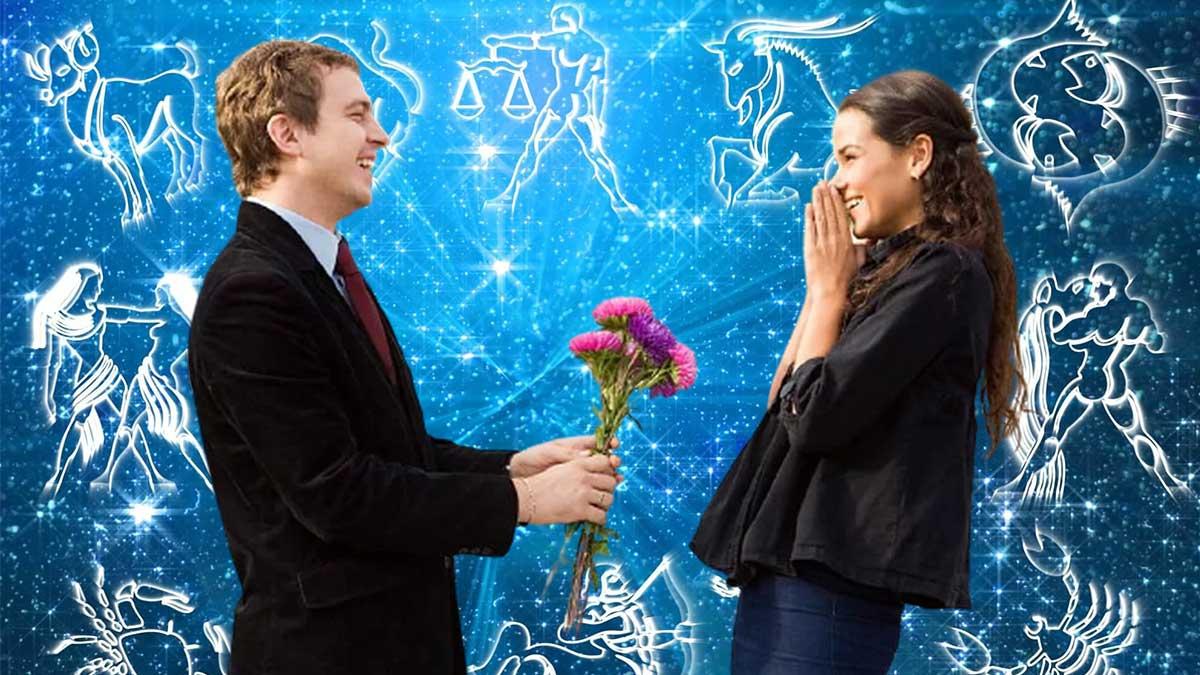 мужчина дарит цветы девушке знаки зодиака гороскоп