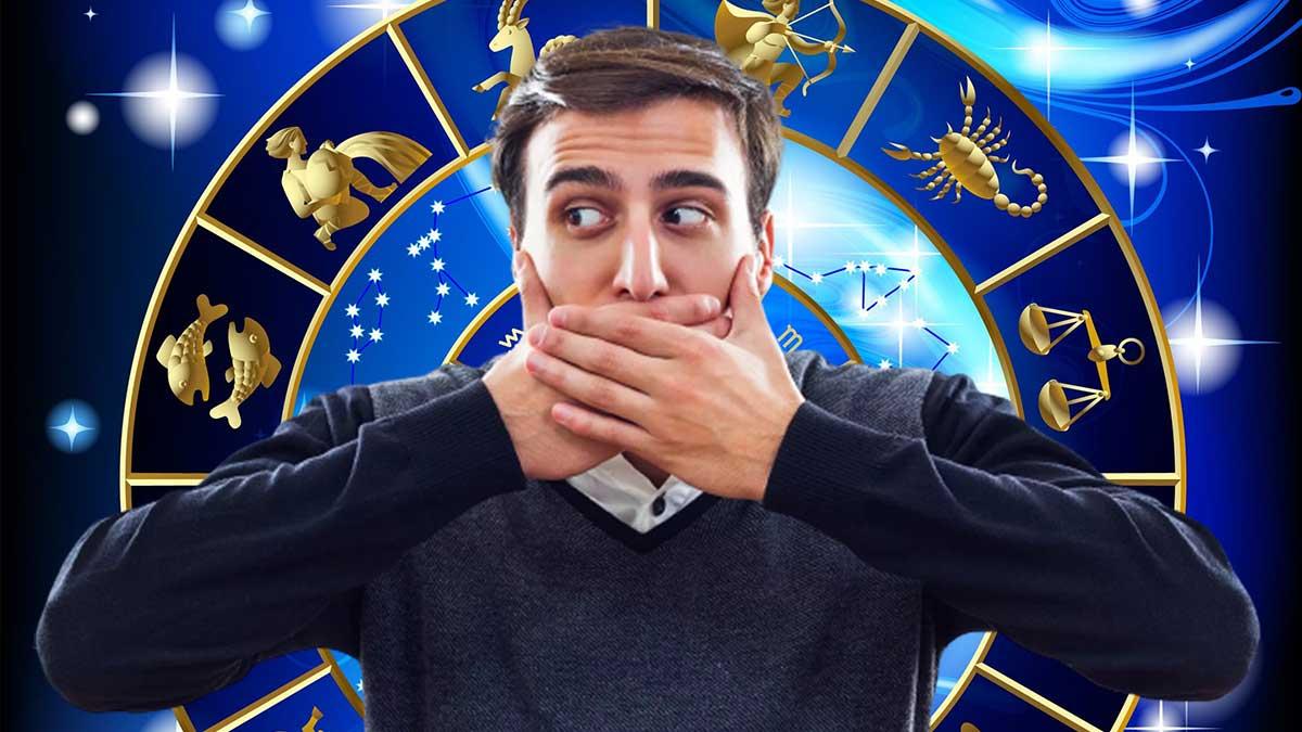 мужчина закрыл рот знаки зодиака гороскоп