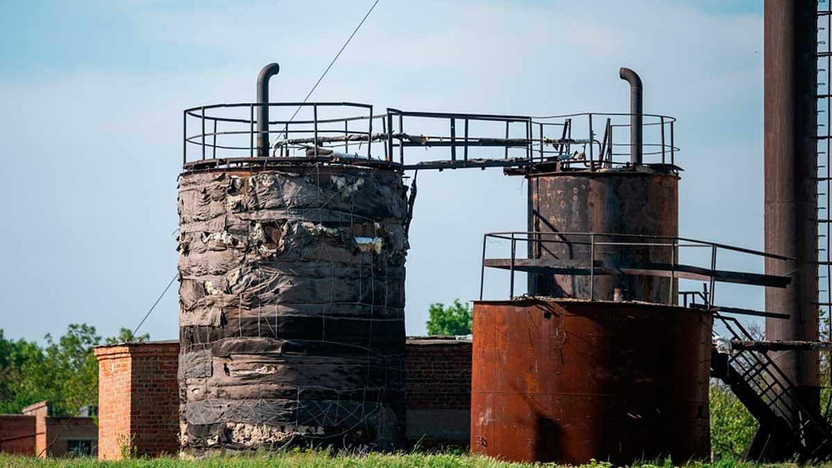 надземные постройки на очистных в Дмитриадовке