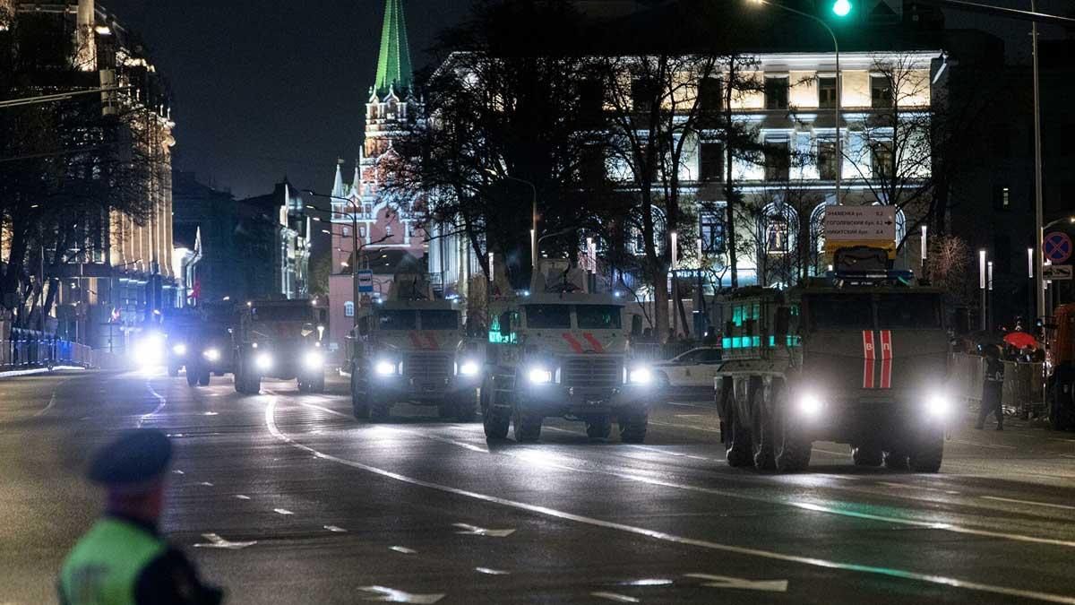 парад репетиция ночь Москва