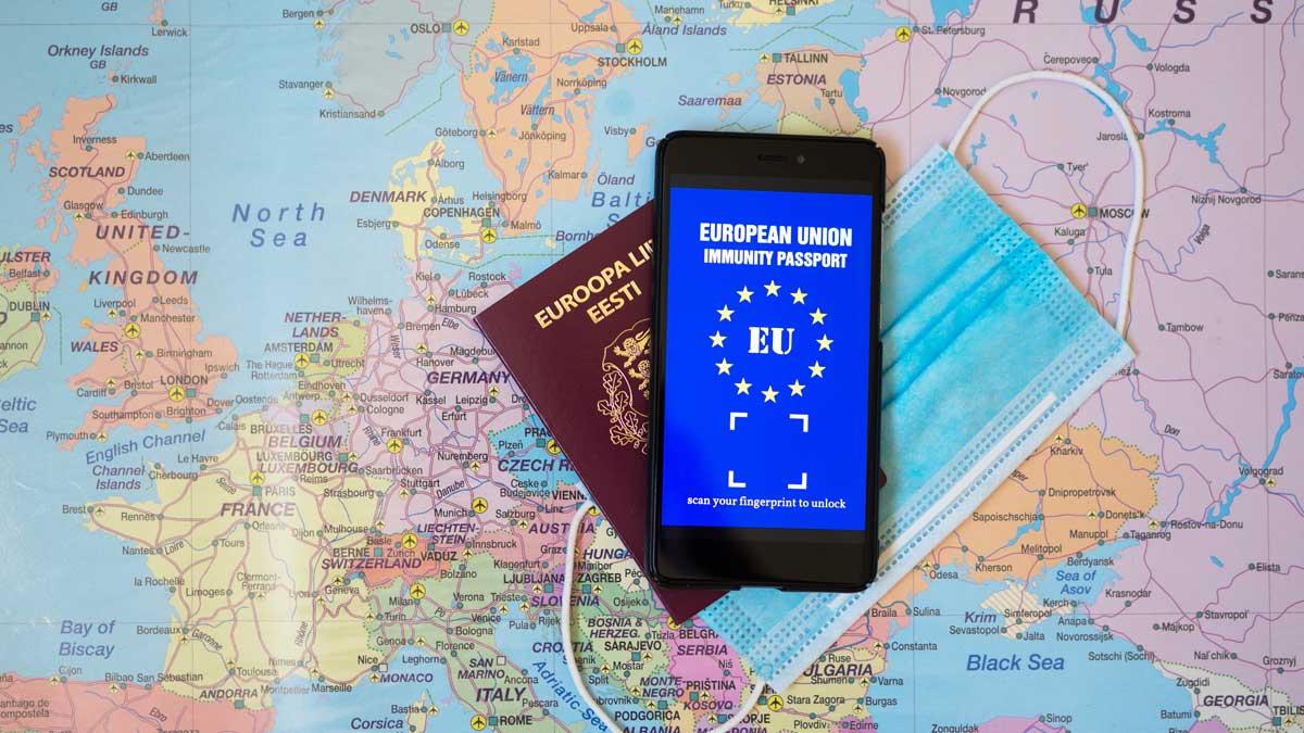 паспорт Европа коронавирус маска