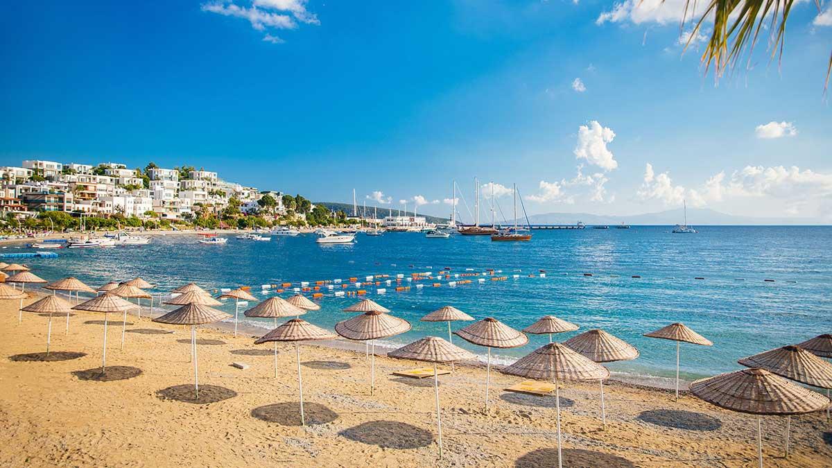 пляж море Турция песок