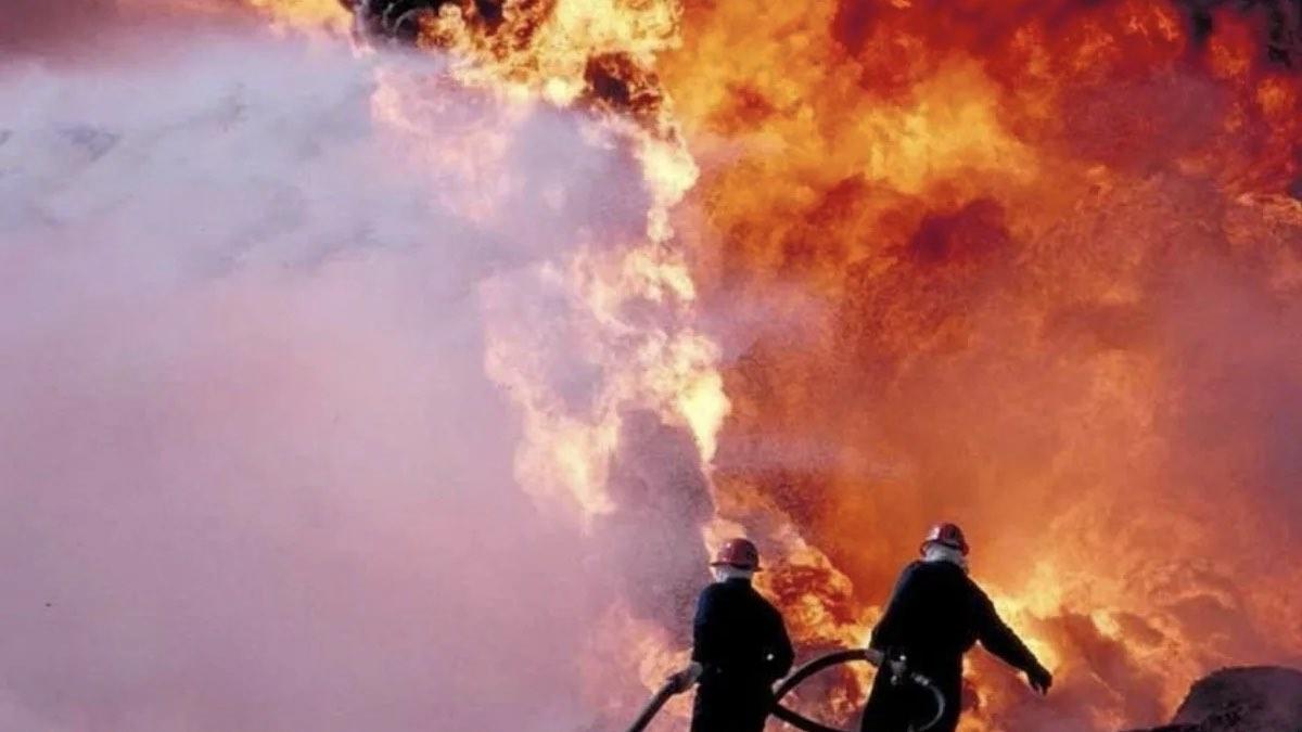 пожар нефтяное месторождение