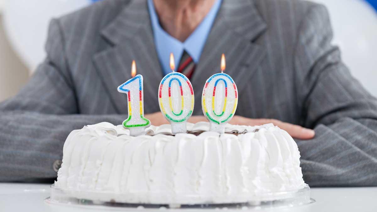 пожилой мужчина торт 100 лет