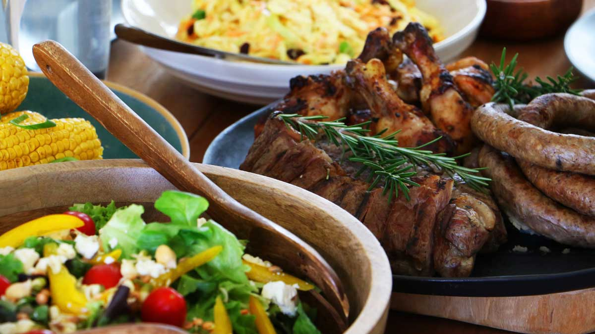 шашлык гарнир картофель салат