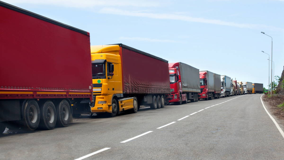 грузовики таможня граница пробка
