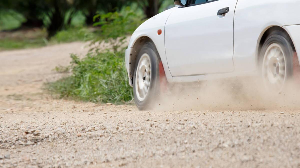Гравийная дорога гравий автомобиль