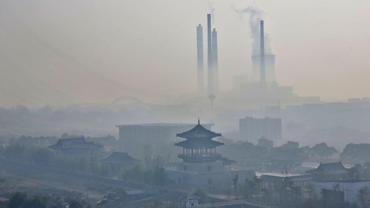 завод загрязнение китай смог выбросы