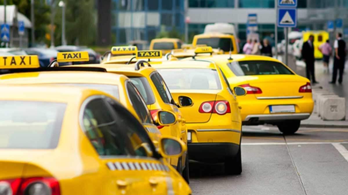 такси автомобили город