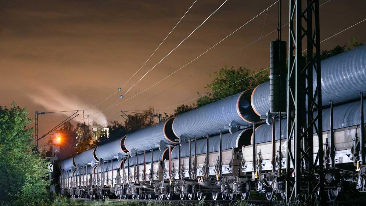 трубы поезд Северный поток 2