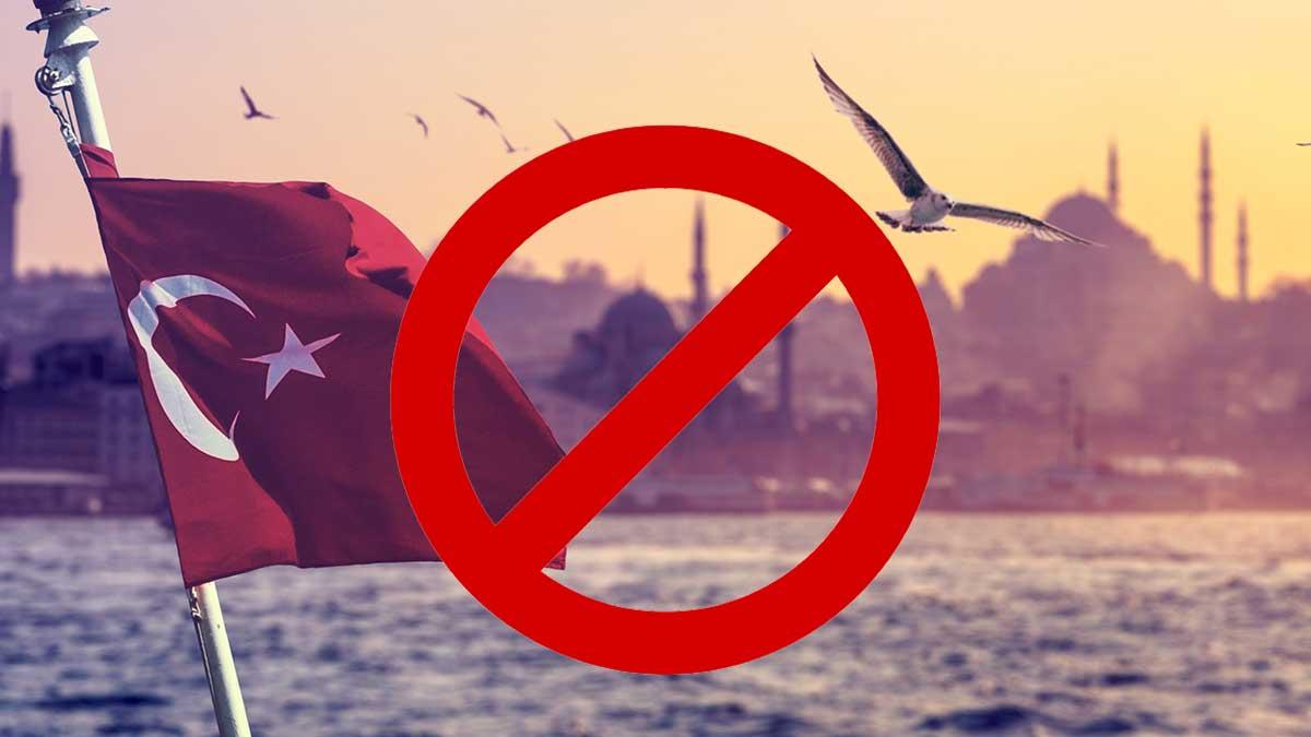 Турция отпуск флаг чайка закрыто круг
