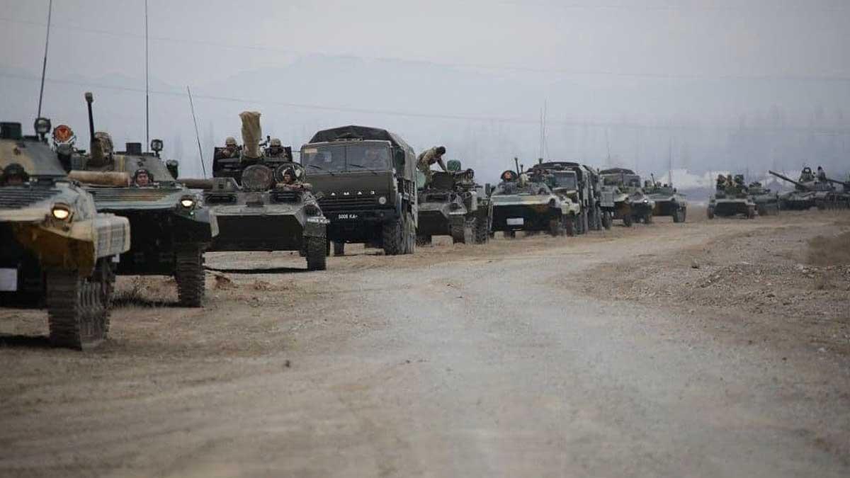 колонна военная техника Киргизия