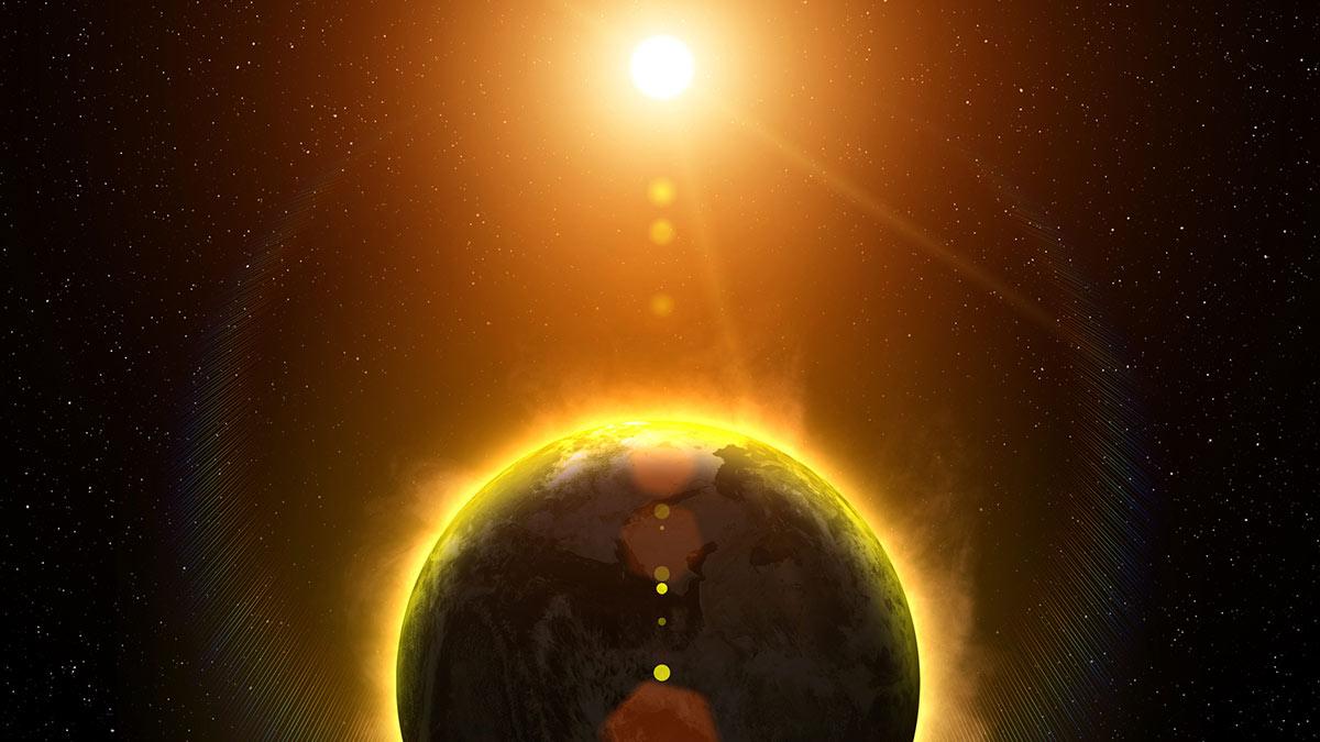 земля солнце высокая температура