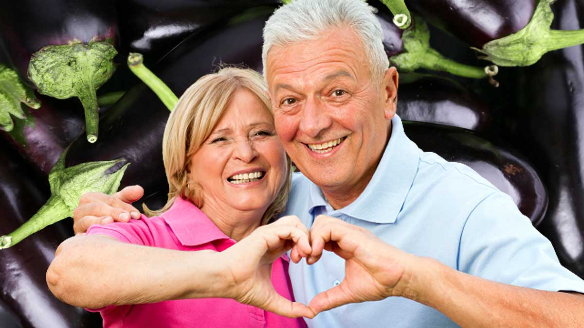 женщина и мужчина сердце баклажаны