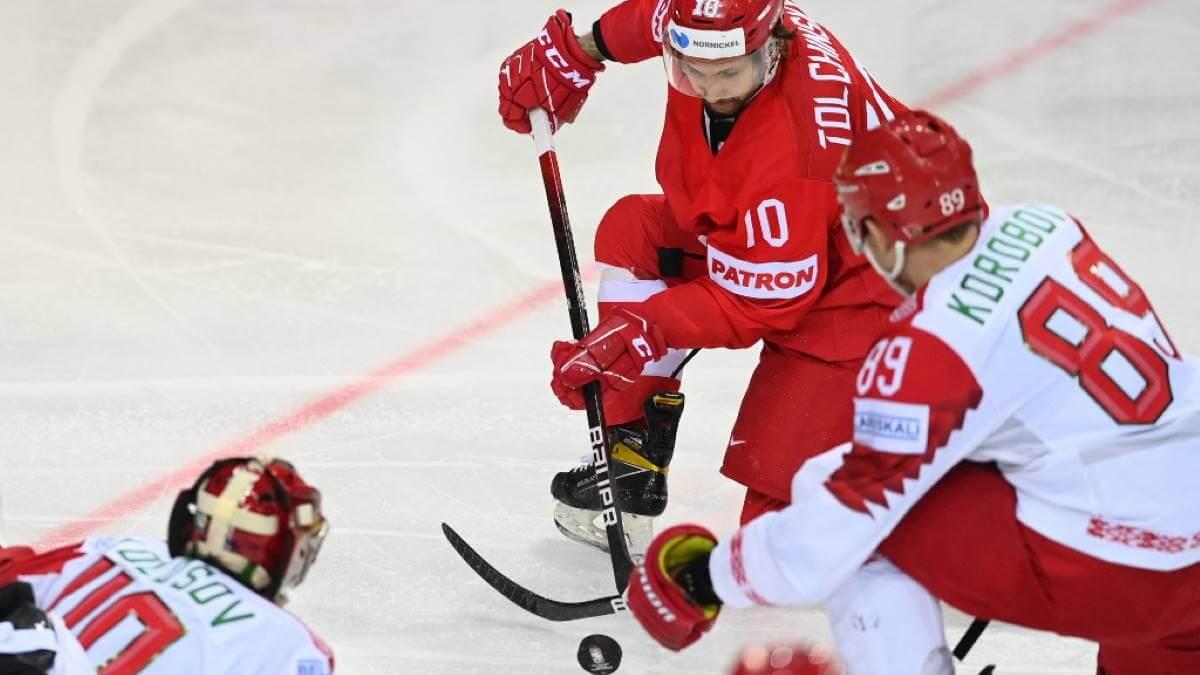 Сборная России - Белоруссии хоккей