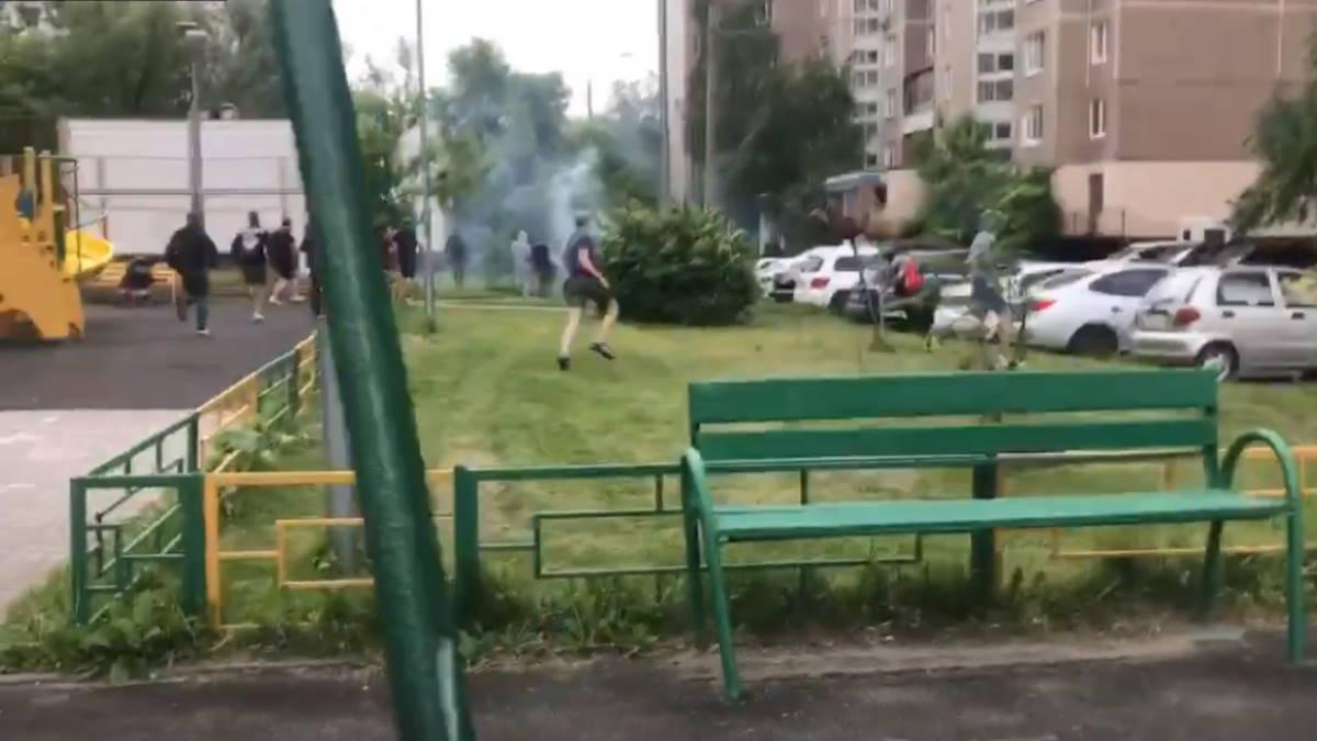 массовая драка на севере Москвы