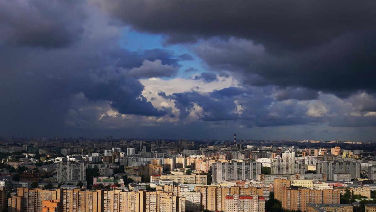 Город погода гроза