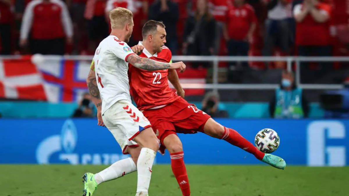 Россия - Дания футбол