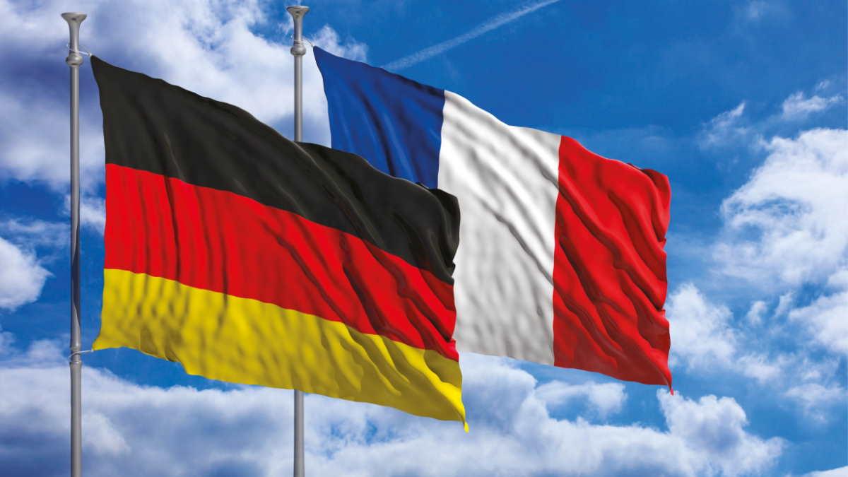 Германия Франция флаги
