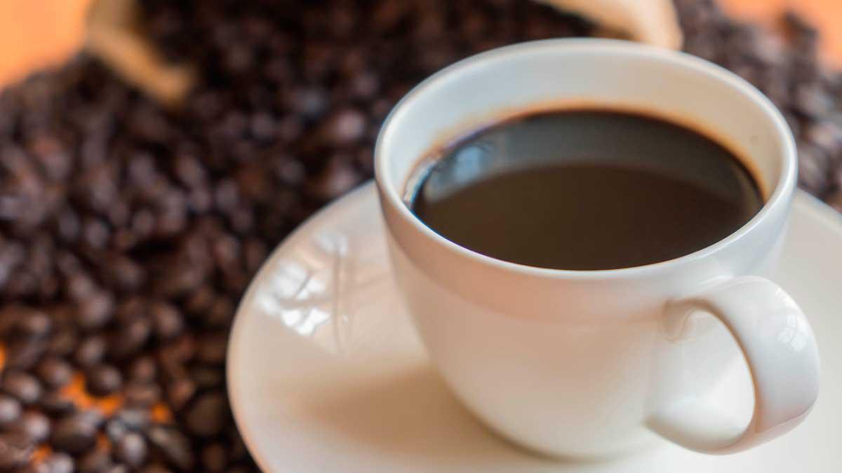Чашка черный кофе